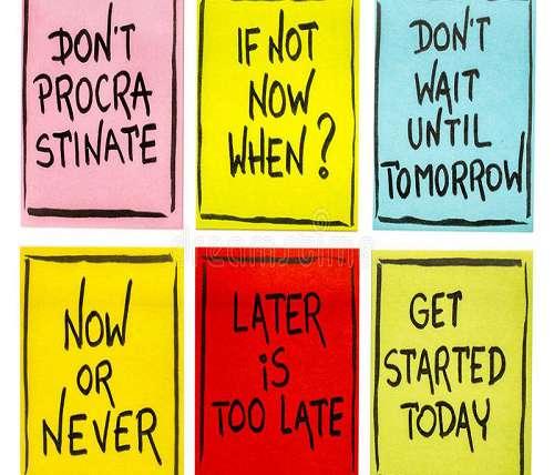 Precrastination, Procrastination and Nocrastination